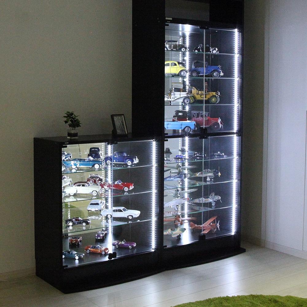 コレクションラックレギュラー、コレクションラックワイド兼用 専用LEDモジュール ロータイプ専用 CR-LED-L 使用例03