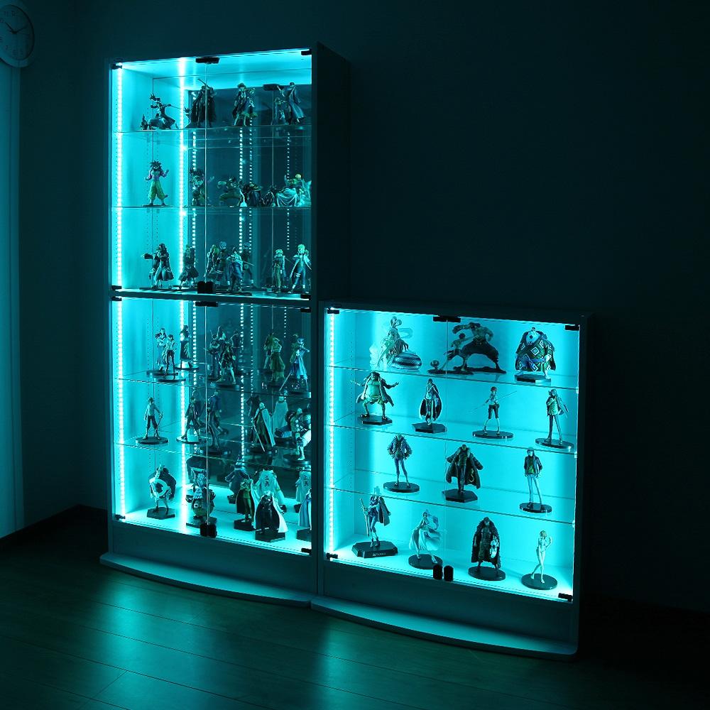 コレクションラックレギュラー、コレクションラックワイド兼用 専用LEDRGBモジュール ロータイプ専用 CR-RGB-L 使用例01