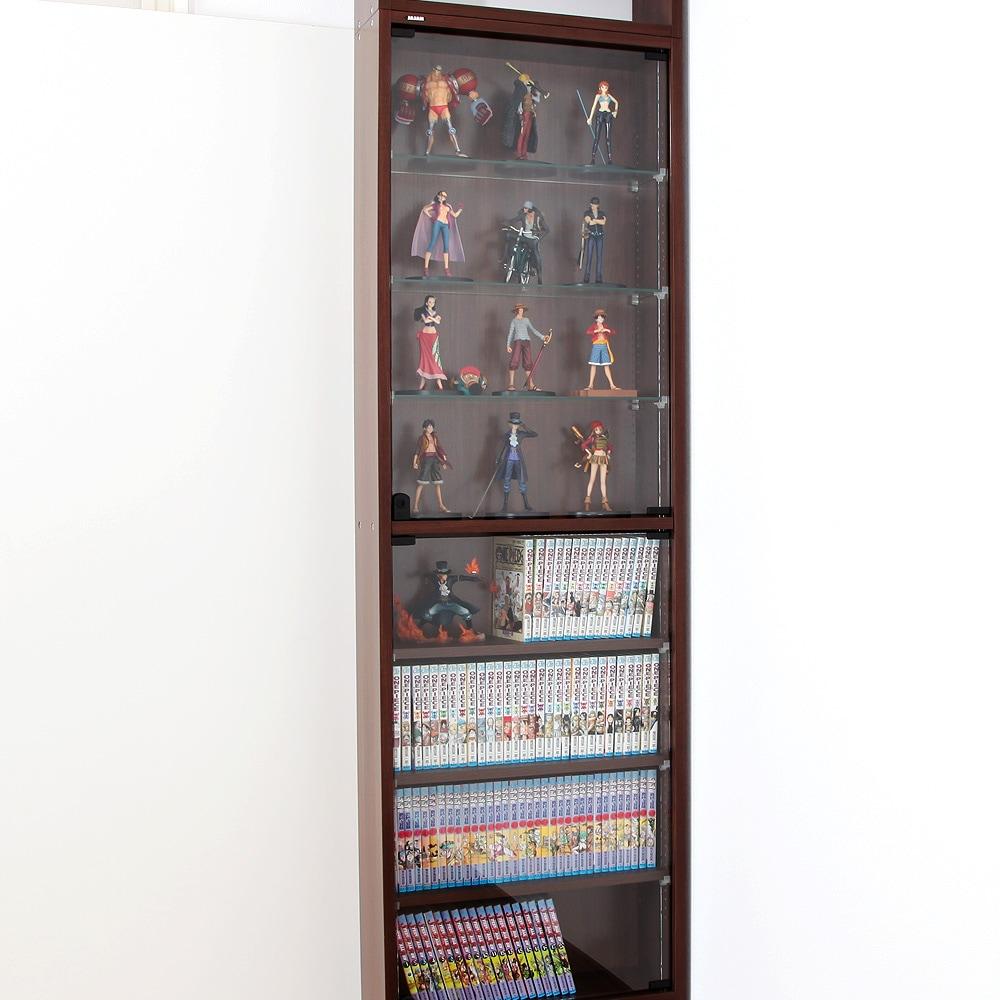 コレクションラック レギュラー 奥行19cm専用木製棚 -フィギュアラック ザ サード- 使用例