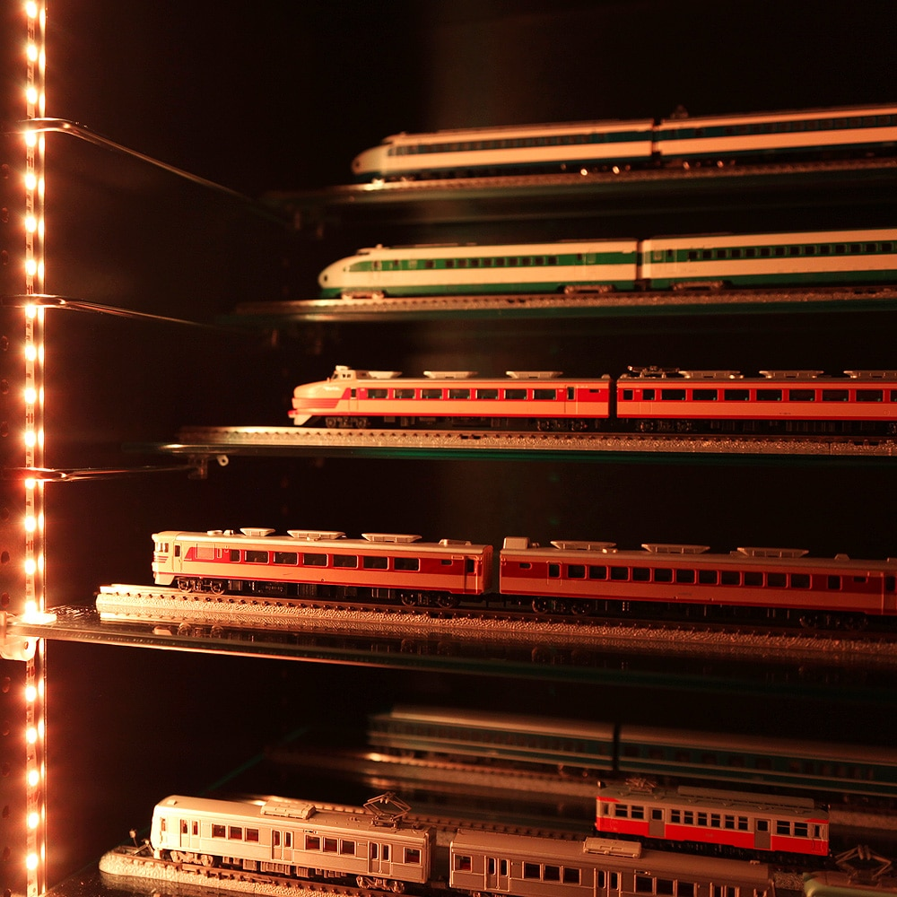 コレクションラック レギュラー 奥行29cm専用ひな壇 Sサイズ 1枚 CR-T5529HS 使用例