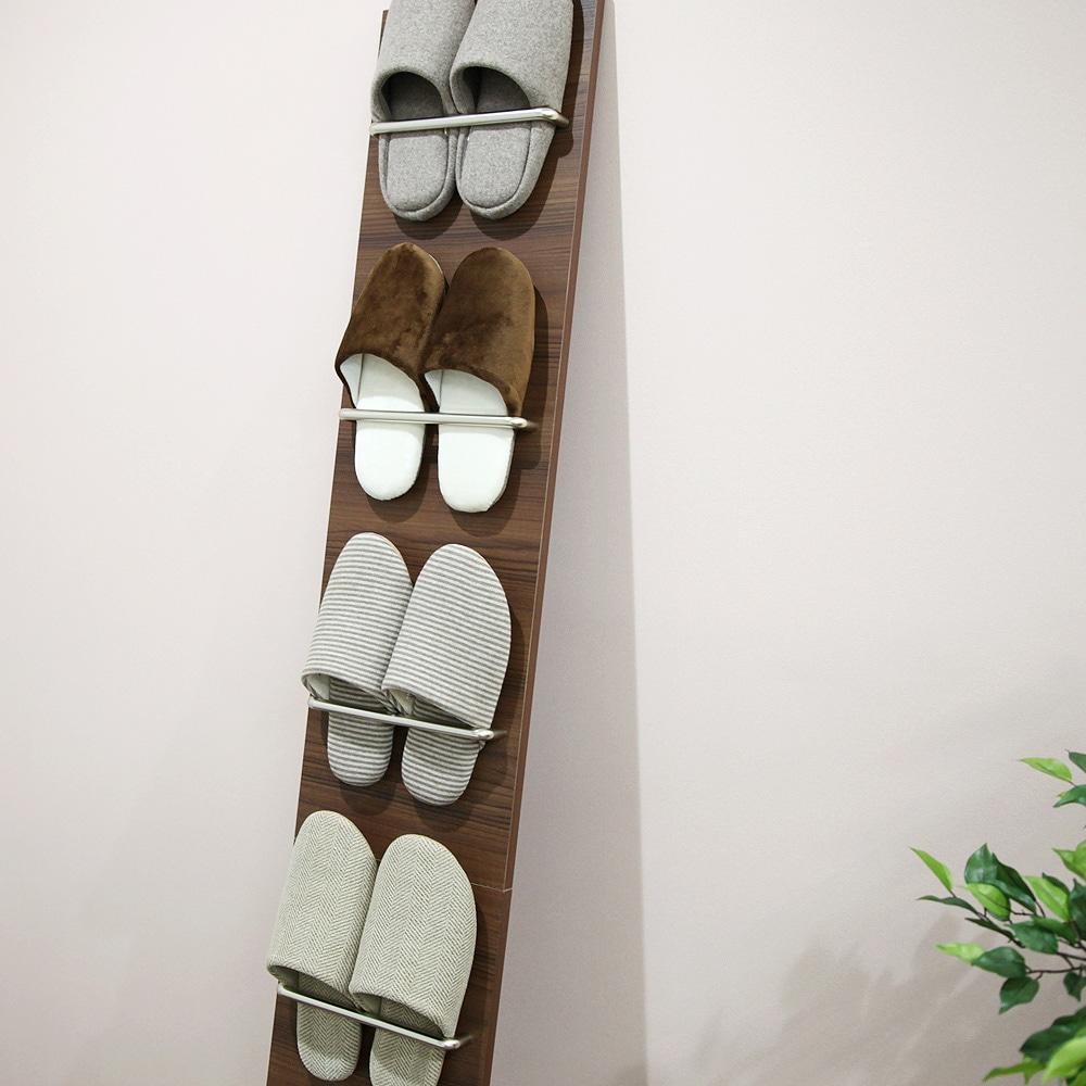 ルームシューズスタンド -ヴィンス- スリッパ収納 幅25.5cm×高さ178cm(立てかけた時)