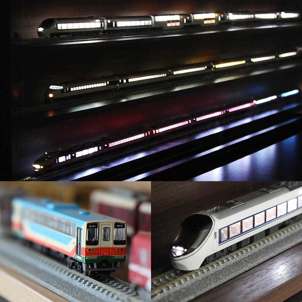 Nゲージ・HOゲージ対応 鉄道模型ディスプレイケース幅113cm 製品イメージ