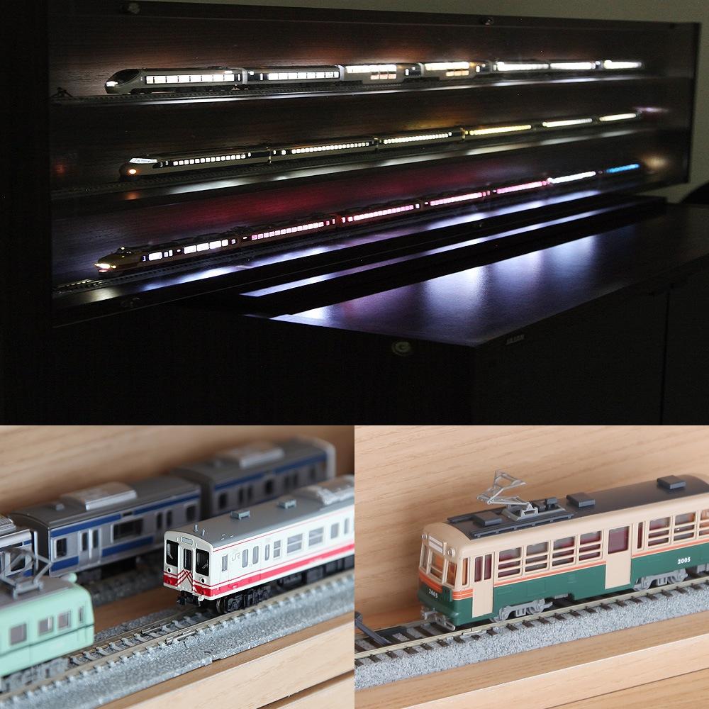 Nゲージ・HOゲージ対応 鉄道模型ディスプレイケース幅93cm 製品イメージ