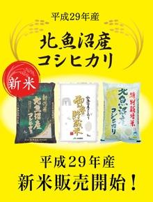 平成29年産新米販売開始!