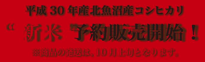 平成29年産北魚沼産コシヒカリ新米予約販売開始!※商品の発送は、10月上旬となります。