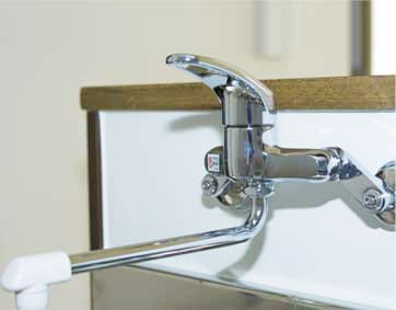 壁付水栓タイプの写真