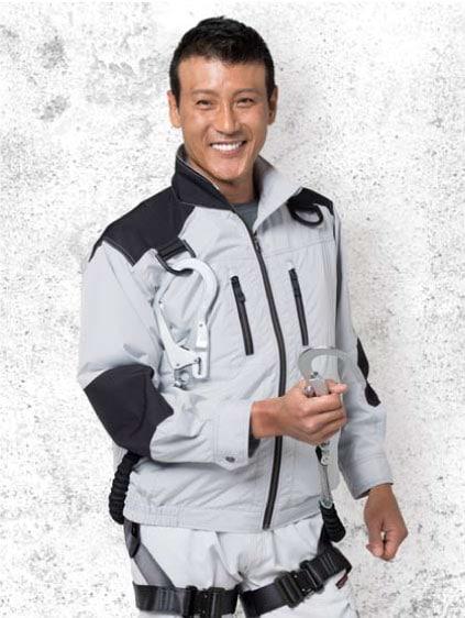 【Jawin】54080 空調服™長袖ブルゾン シルバー