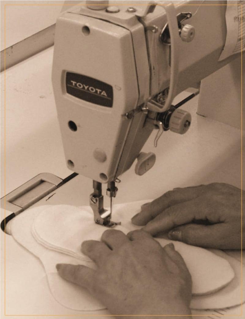 ジュランジェの布ナプキンは1枚1枚手作り