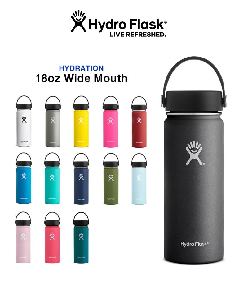 Hydro Flask ハイドロフラスク HYDRATION 18oz Wide Mouth ステンレスボトル 水筒 ワイドマウス 532ml #5089023