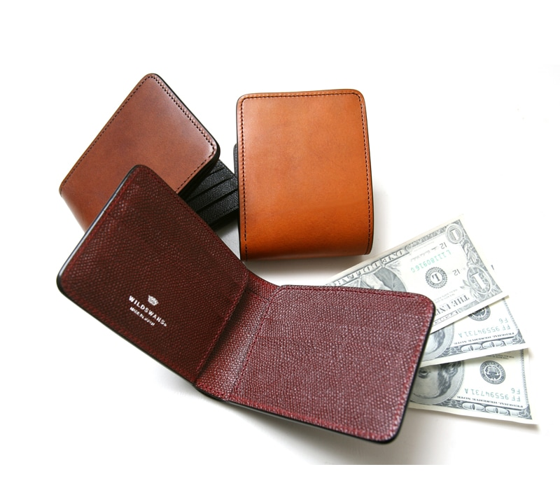 WILDSWANS ワイルドスワンズ WINGS ウィングス ウイングス フルグレインブライドルレザー×サドル型押し ベイカー マシュア 二つ折り財布 札入れ 限定 別注