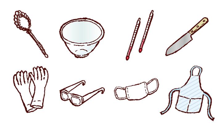 手作り石けんの道具