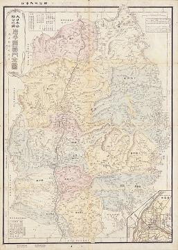 大日本管轄分地図 岩手県管内全図