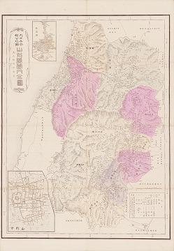 大日本管轄分地図 山形県管内全図