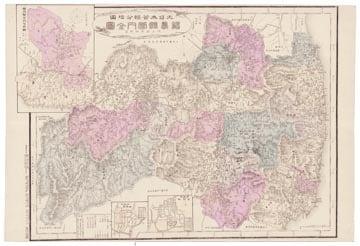 大日本管轄分地図 福島県管内全図