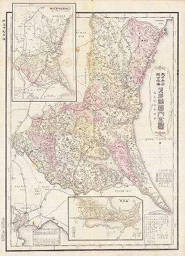 大日本管轄分地図 茨城県管内全図