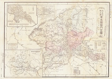大日本管轄分地図 群馬県管内全図