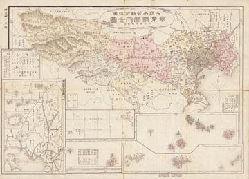 大日本管轄分地図 東京府管内全図