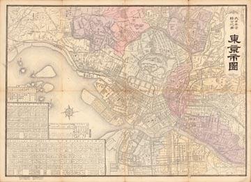 大日本管轄分地図 東京市図 (明治41年)