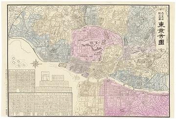 大日本管轄分地図 東京市図 (明治28年)