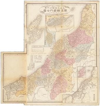 大日本管轄分地図 新潟県管内全図