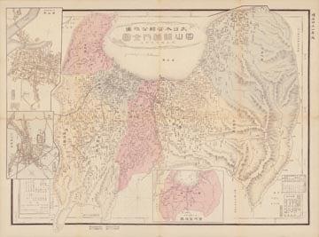 大日本管轄分地図 富山県管内全図