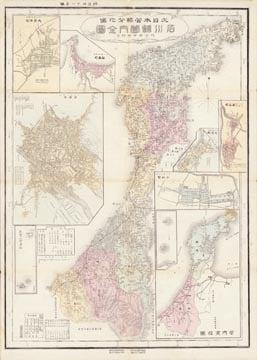 大日本管轄分地図 石川県管内全図