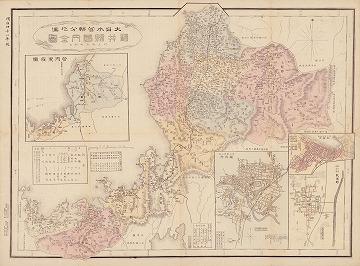 大日本管轄分地図 福井県管内全図