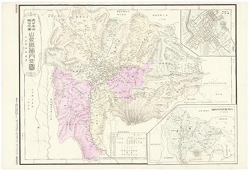 大日本管轄分地図 山梨県管内全図