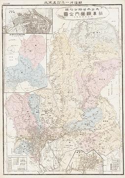 大日本管轄分地図 岐阜県管内全図