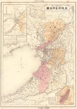 大日本管轄分地図 大阪府管内全図