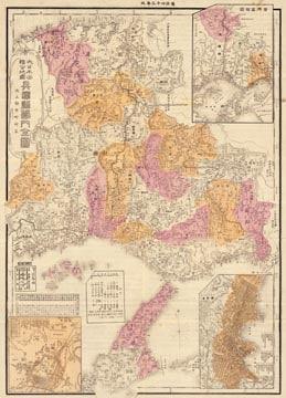大日本管轄分地図 兵庫県管内全図