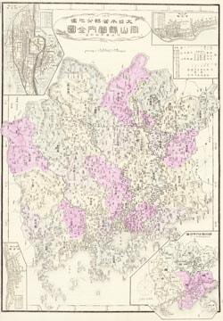 大日本管轄分地図 岡山縣管内全図