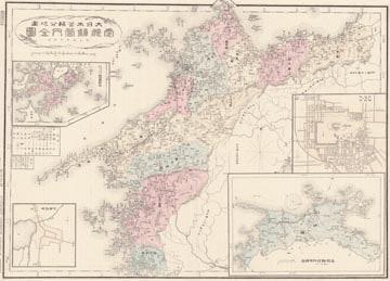大日本管轄分地図 愛媛県管内全図