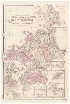大日本管轄分地図 福岡県管内全図