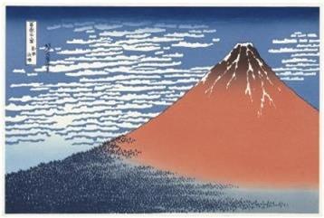 富士山 平成 富嶽三十六景 第二景 赤富士 (単体モデル)
