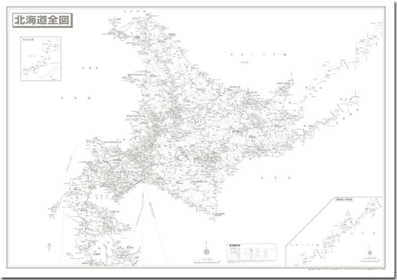 塔文社 地方別地図(白地図)