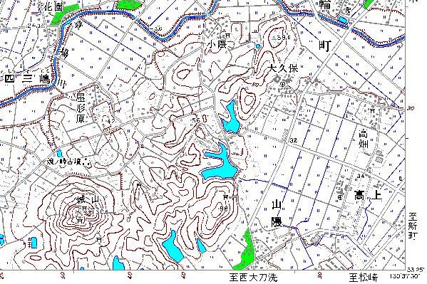 地図画像二日市右下