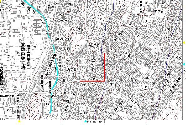 地図画像札幌右下