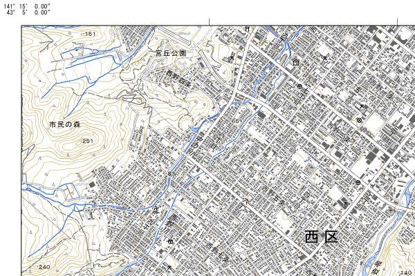 電子地形図札幌左上