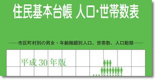 平成30年版住民基本台帳人口要覧