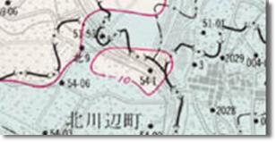 関東地区地盤沈下等量線図