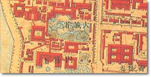 明治前期測量中央官衙街2千分1彩色地図