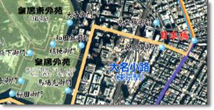 江戸の足跡:東京衛星画像地図
