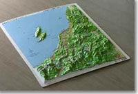 県別レリーフマップ立体地図