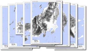 50万分の1全国立体地形斜度図セット