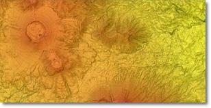 火山基本図 基図・段彩図・写真地図(インクジェット出力図)