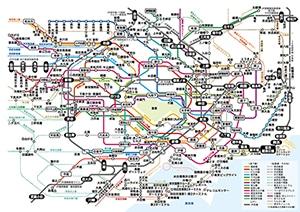 首都圏JR、地下鉄路線図