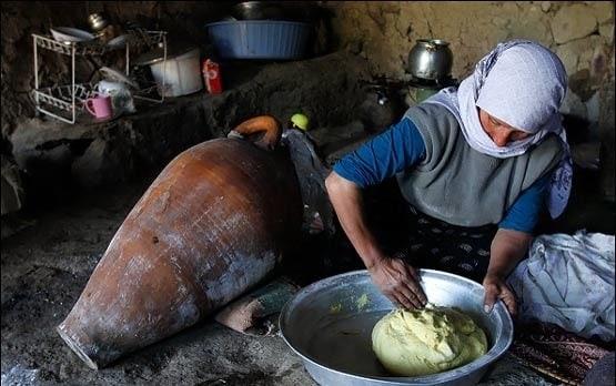 パンを焼く一時