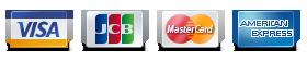 JCB,VISA, MasterCard, AMEX