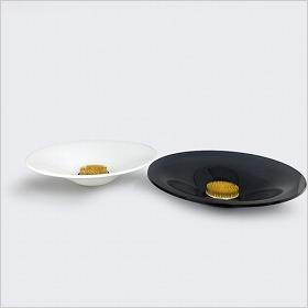 アクリル水盤剣山セット(丸)白・黒